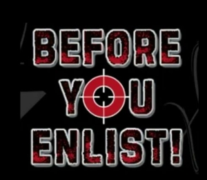 Before You Enlist - graphic, You as target